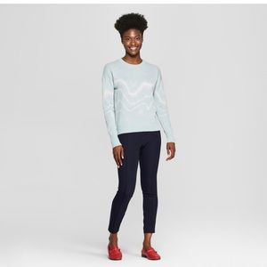 Sweaters - Blue Silver Metallic Sweater In S